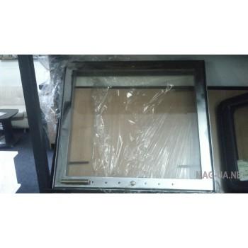 Дверка камінна зовнішня нержавіюча 550х500