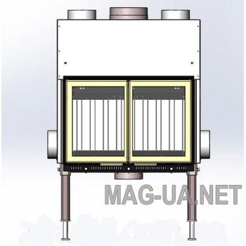 Камінна топка Жарко AIR-740 з двостулковими дверцятами 16 кВт