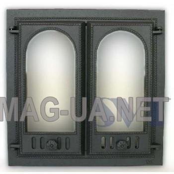 Камінна чавунна дверка  600х600 (500х500)