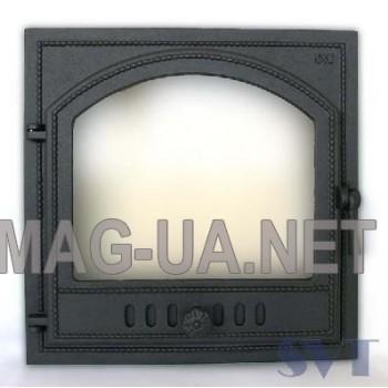 Камінна чавунна дверка  500х500 (410х410)