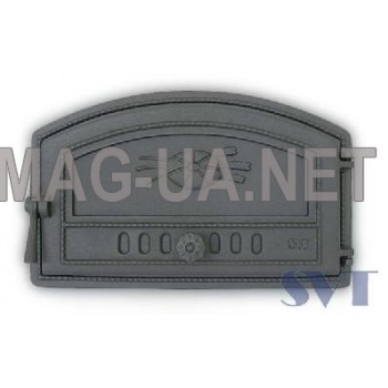 Хлібної печі чавунна дверка  225/290х470 (180/230х410)