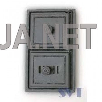 Пічна чавунна дверка спарена  385х230 (345х180)