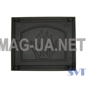 Пічна чавунна дверка  400х370 (325х290)