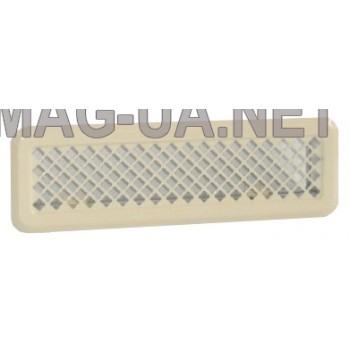 Бежева вентиляційна решітка К0 65x205 (45x185)