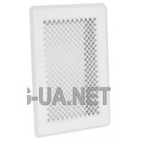 Біла вентиляційна решітка К1 135x195 (105х165)