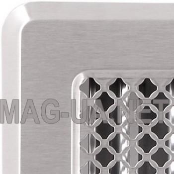 Нержавіюча вентиляційна решітка з жалюзями Кz5 195x485 (165x455)