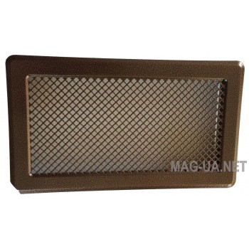 Антік мідна вентиляційна решітка К5 195x485 (165x455)