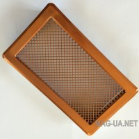 Мідна вентиляційна решітка К4 195x335 (165x300)