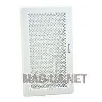 Біла вентиляційна решітка з жалюзями Кz4 195x335 (165x300)