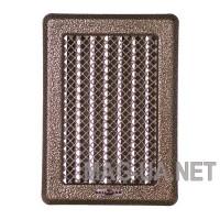 Антік латунна вентиляційна решітка з жалюзями  Кz3 175x245 (140x215)