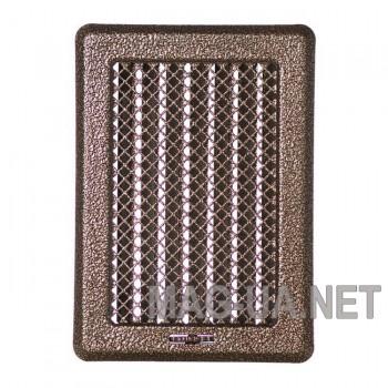 Антік латунна вентиляційна решітка з жалюзями Кz3175x245 (140x215)