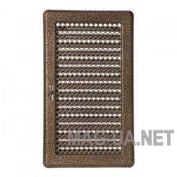 Антік латунна вентиляційна решітка з жалюзями Кz4 195x335 (165x300)