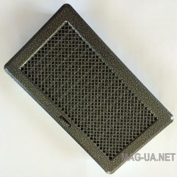 Антік срібло вентиляційна решітка з жалюзями Кz4 195x335 (165x300)