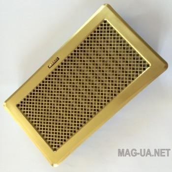 Латунна вентиляційна решітка з жалюзями Кz5 195x485 (165x455)