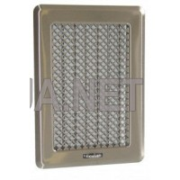 Нержавіюча вентиляційна решітка Кz3 з жалюзями175x245 (140x215)