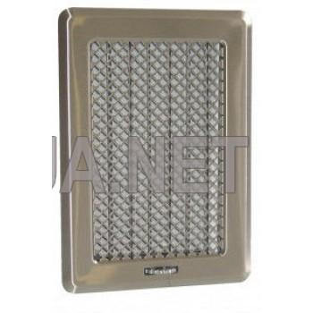 Нержавіюча вентиляційна решітка з жалюзями Кz3175x245 (140x215)