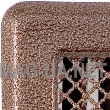 Антік мідна вентиляційна решітка з жалюзями Кz3175x245 (140x215)